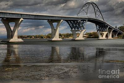 Photograph - Lake Champlain Bridge Reflections by Adam Jewell
