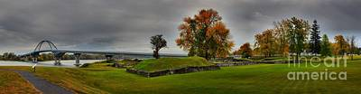 Photograph - Lake Champlain Crown Point Panorama by Adam Jewell