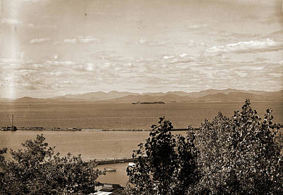 Vermont Drawing - Lake Champlain, From Battery Park, Burlington, Vt, Lakes & by Litz Collection