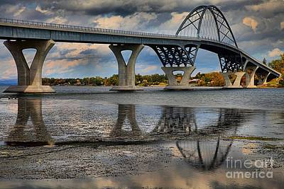 Photograph - Lake Champlain New Bridge by Adam Jewell