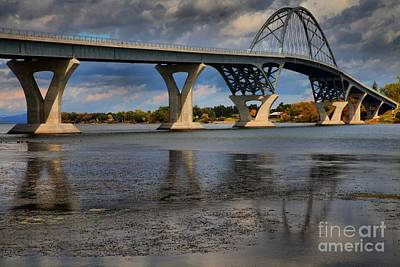 Photograph - Lake Champlain Tied Arch Bridge by Adam Jewell