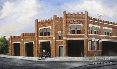 Painting - Lake Charles Central Fire Station by Barbara Haviland