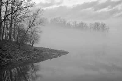 Lake Chatuge Lost In Fog Art Print by Kenny Francis