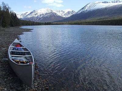 Canoe Digital Art - Lake Clark National Park by National Park Service
