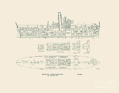 Lighthouse Drawing - Lake Class Cutter 1929 by Jerry McElroy - Public Domain Image