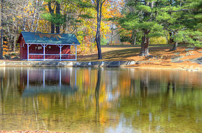 Photograph - Lake Club In Autumn by Donna Doherty