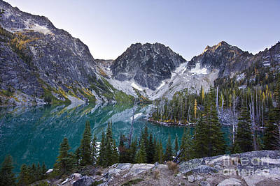 Lake Colchuck Sunrise Art Print by Mike Reid