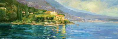 Villa Painting - Lake Como by Allayn Stevens