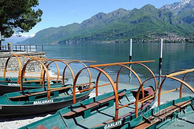 Photograph - Lake Como Boats- Italy  by Haleh Mahbod