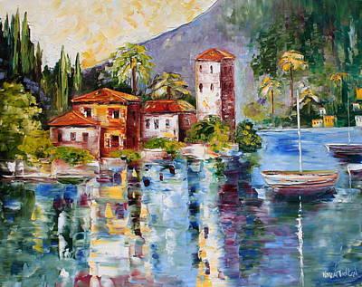 Lake Como Painting - Lake Como Italy by Karen Tarlton