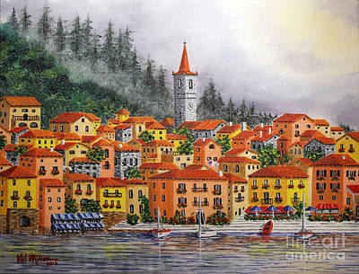 Lake Como Italy Art Print by Val Miller