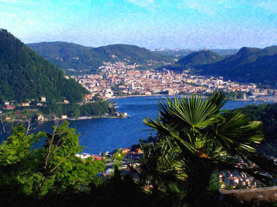 Lake Como Painting - Lake Como Itl7724 by Dean Wittle