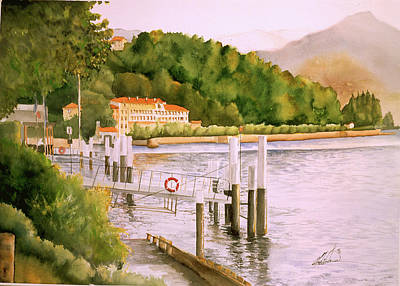 Italian Landscape Painting - Lake Como by Leah Wiedemer