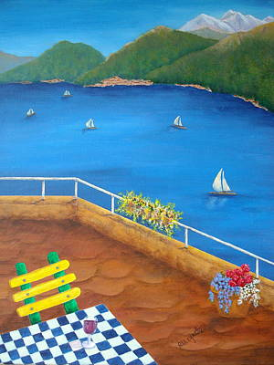 Stucco Painting - Lake Como by Pamela Allegretto