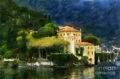 Photograph - Lake Como Villia Italy by Scott B Bennett