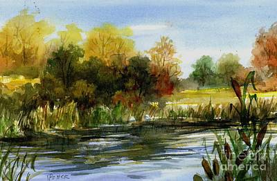 Painting - Lake Conway Cattails by Virginia Potter