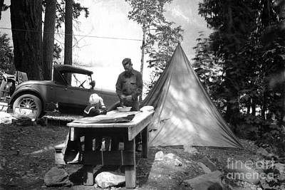 Photograph - Lake Crescent Camp Site by Joe Jeffers