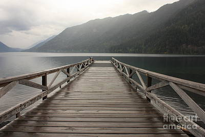 Photograph - Lake Crescent Dock by Carol Groenen