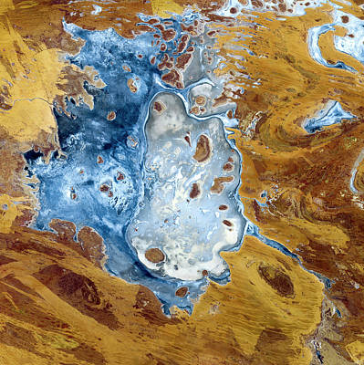 Disappointment Wall Art - Photograph - Lake Disappointment by Cnes, 2002 Distribution Spot Image/science Photo Library