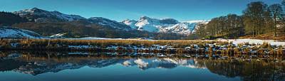 Photograph - Lake District Snowy Winter Mountain by Fotovoyager