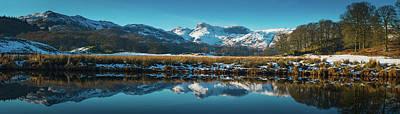 Ambleside Wall Art - Photograph - Lake District Snowy Winter Mountain by Fotovoyager