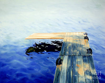 Painting - Lake Dock by Paula Marsh