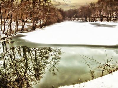 Snow Landscape Digital Art - Lake Effects by Jessica Jenney