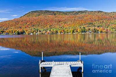 Photograph - Lake Elmore Autumn by Alan L Graham