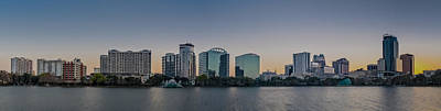 Photograph - Lake Eola Orlando Fl Panoramic by Susan Candelario