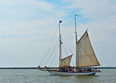 1-war Is Hell Royalty Free Images - Lake Erie Sailboat Royalty-Free Image by Frozen in Time Fine Art Photography
