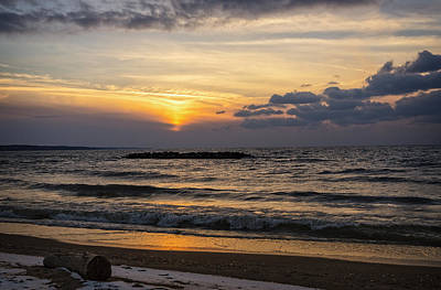 Photograph - Lake Erie Sunset by Dave Files