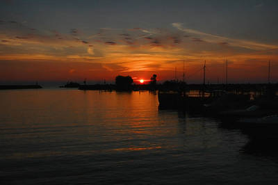 Photograph - Lake Erie Sunset by David Armstrong