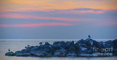 Digital Art - Lake Erie Twilight 2014 by Kathryn Strick