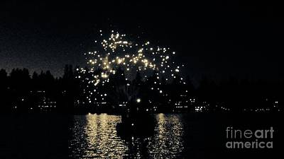 Photograph - Lake Fireworks by Susan Garren