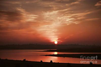 Photograph - Lake Folsom California Sunset by Polly Peacock