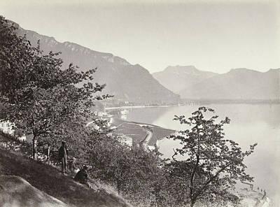 Lake Geneva And Dent Du Midi, Switzerland Art Print by Artokoloro