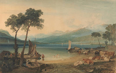 Painting - Lake Geneva And Mount Blanc by Joseph William Mallord Turner