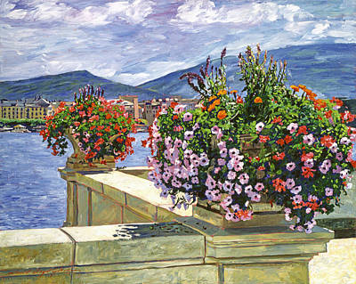 Geneva Painting - Lake Geneva Beauty by David Lloyd Glover