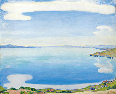 Geneva Painting - Lake Geneva From Chexbres by Ferdinand Hodler