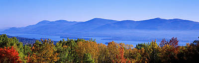 Mts Photograph - Lake George, Adirondack Mountains, New by Panoramic Images