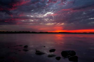 Lake Herman Sunset Art Print by Aaron J Groen