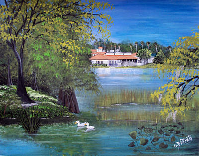 Lake Hollingsworth Landscape Art Print