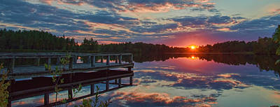 Photograph - Lake Horicon Sunset 1 by Beth Sawickie