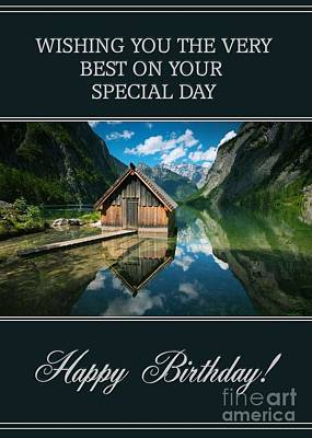 Digital Art - Lake House Birthday by JH Designs