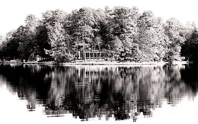 Old School House Photograph - Lake House by John Rizzuto