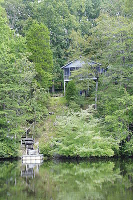 Photograph - Lake House by Laurie Perry