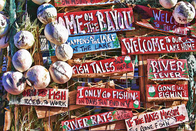Photograph - Lake House Signs by Audreen Gieger