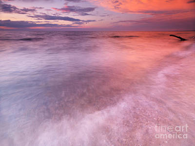 Pinery Photograph - Lake Huron Beautiful Red Sunset Sky by Oleksiy Maksymenko