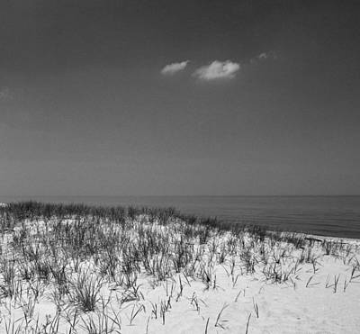 Photograph - Lake Huron Sand 2 Black And White by Mary Bedy