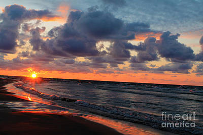 Photograph - Lake Huron Sunset by Nina Silver